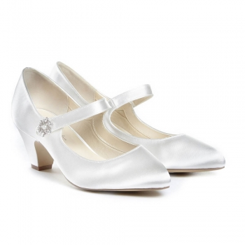 Pink By Paradox Abella Ivory Mary Jane Bridal Wedding Shhoes